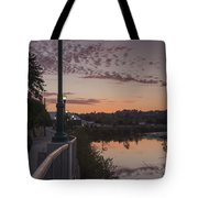 Evening By The River Tote Bag