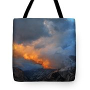 Evening Clouds And Half Dome At Yosemite Tote Bag