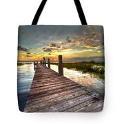Evening Dock Tote Bag by Debra and Dave Vanderlaan