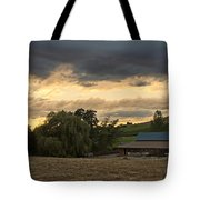 Evening Farm Scene Near Ashland Tote Bag
