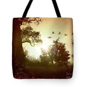 Evening Flying Geese Tote Bag