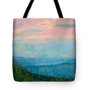 Evening Glow At Rock Castle Gorge  Tote Bag