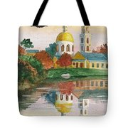 Evening Gong Of The Russian Church Tote Bag
