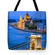 Evening In Budapest Tote Bag