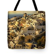 evening in Oia Tote Bag
