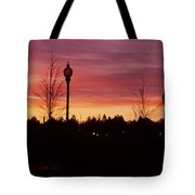 Evening In Riverfront Park Tote Bag