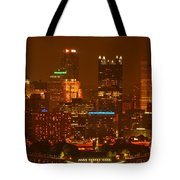 Evening In The City Of Champions Tote Bag
