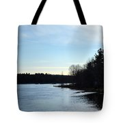 Evening Light As The Sun Goes Down Tote Bag