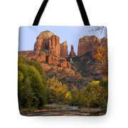 Evening Light On Cathedral Rock Tote Bag