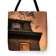 Evening Light On Old House Tote Bag