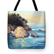Evening Light Point Lobos Tote Bag