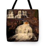 Evening Light Waterfalls Tote Bag