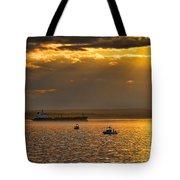 Evening Mariners Puget Sound Washington Tote Bag