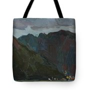 Evening Mountains In The Gulf Tote Bag