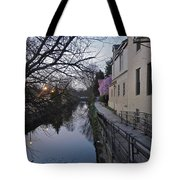 Evening On The Canal Path Tote Bag