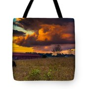 Evening On The Farm Five Tote Bag