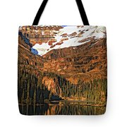 Evening On The Great Divide Painted Tote Bag