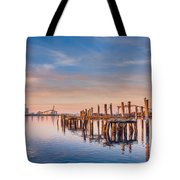 Evening On The Humboldt Bay Tote Bag