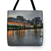 Evening On The River Tote Bag