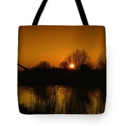 Evening Panoramic View On Pottes - Belgium Tote Bag