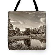 Evening Pond Sepia Tote Bag