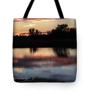 Evening Reflection Tote Bag by Robert D  Brozek