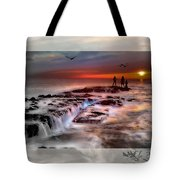 Evening Stroll At The Beach -featured In 'cards For All Occasions'comfortable Art'  'digital Veil Tote Bag