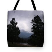 Evening Thunder Storm Tote Bag