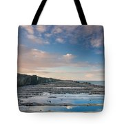 Evening View Down The South Jetty Tote Bag