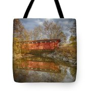 Everett Rd. Covered Bridge In Fall Tote Bag