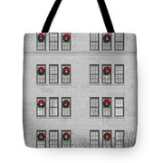 Evergreen Christmas Wreaths Abstract Tote Bag