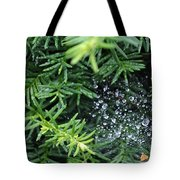 Evergreen Rain Tote Bag