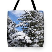 Evergreen Snow Tote Bag