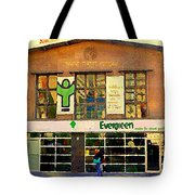 Evergreen Yonge St  Scenes Building A Better Toronto One Person At A Time Community Center Cspandau Tote Bag