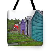 Every Garden Needs A Shed And Lawn Two In Les Jardins De Metis/reford Gardens Near Grand Metis-qc Tote Bag