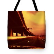 Everybody's Out Of Town - Sundown Tote Bag by Wendy J St Christopher