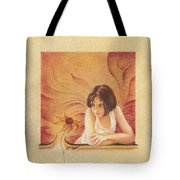 Everyday Angel With Flower Tote Bag