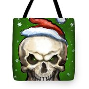 Evil Christmas Skull Tote Bag