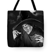 Evil Witch Under A Full Moon Tote Bag