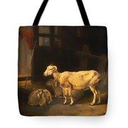 Ewe And Lambs Tote Bag