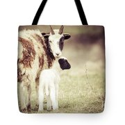 Ewe And Young Tote Bag