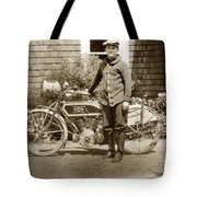 Excalibur Motorcycle California Circa 1915 Tote Bag