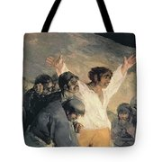 Execution Of The Defenders Of Madrid Tote Bag
