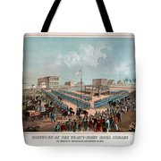 Execution Of The Thirty Eight Sioux Indians Tote Bag