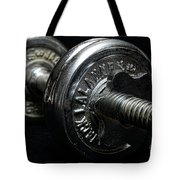 Exercise  Vintage Chrome Weights Tote Bag