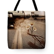 Exhausting Pipe Flowers Tote Bag