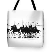 Exhibition Platoon Of The 11th U.s. Cavalry On Del Monte Beach Monterey California 1935 Tote Bag
