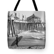 Existential Surfing At Huntington Beach Tote Bag