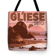 Exoplanet 01 Travel Poster Gliese 581 Tote Bag by Chungkong Art