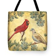 Exotic Bird Floral And Vine 2 Tote Bag by Debbie DeWitt